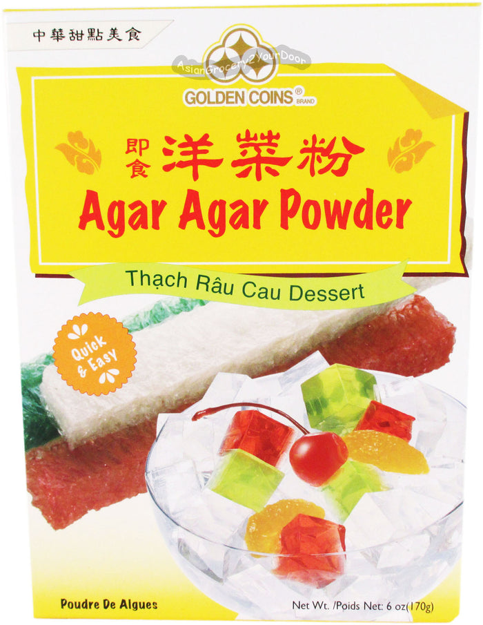 Golden Coins - Agar Agar Powder - 6 oz / 170 g - Asiangrocery2yourdoor