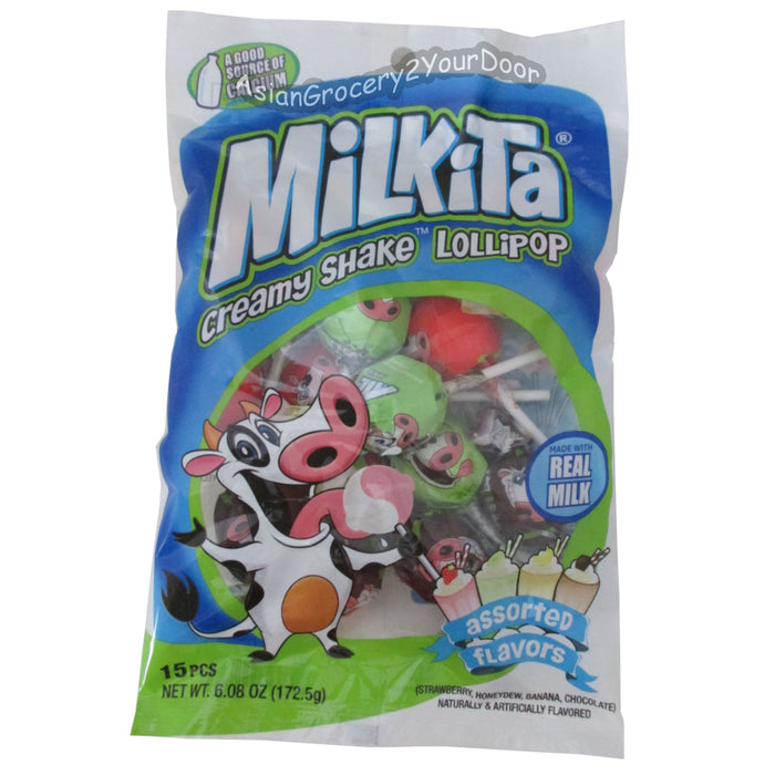 Milkita - Creamy Shake Lollipop - 6.08 oz / 172.5 g - Asiangrocery2yourdoor