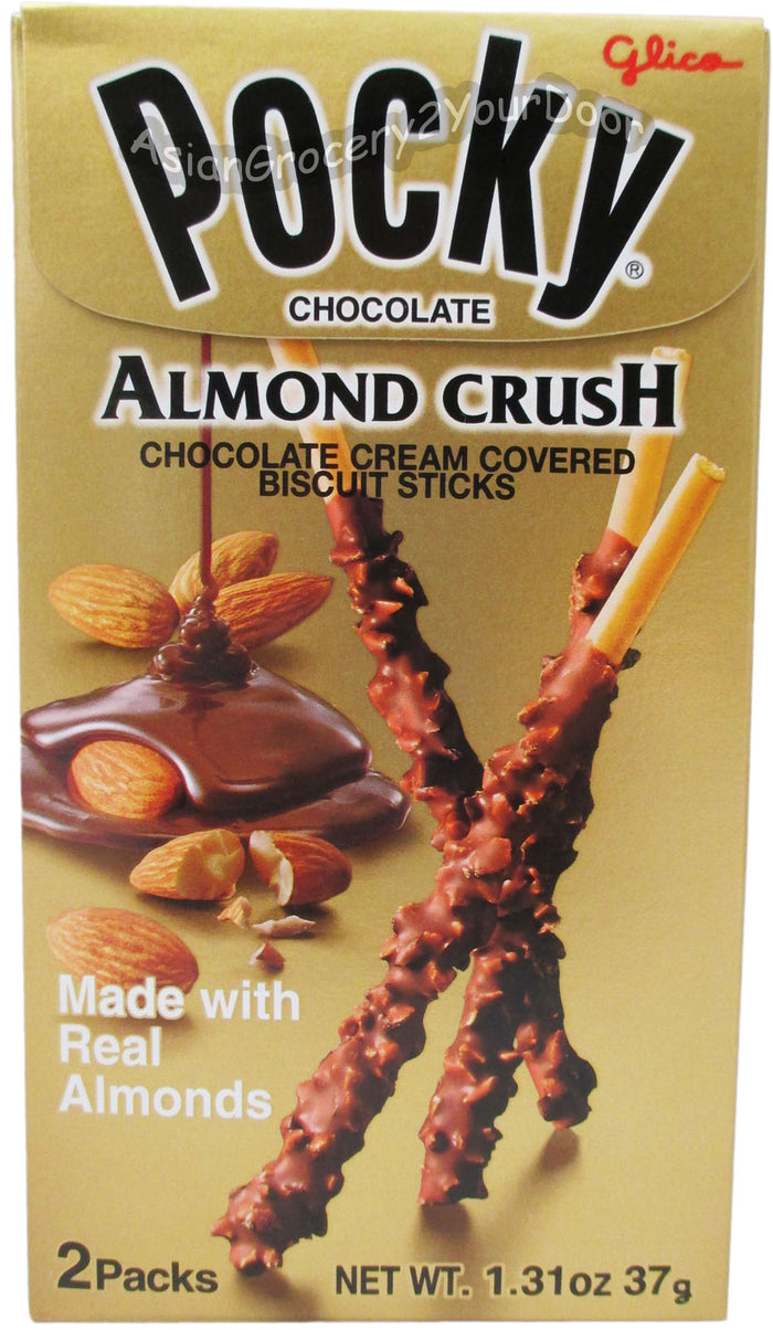 Glico Pocky - Chocolate Almond Crush Biscuit Sticks - 1.31 oz / 37 g - Asiangrocery2yourdoor