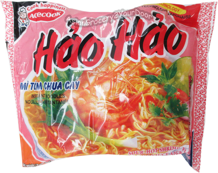 Acecook - Hao Hao Sour-Hot Instant Noodles - 2.7 oz / 77 g - Asiangrocery2yourdoor