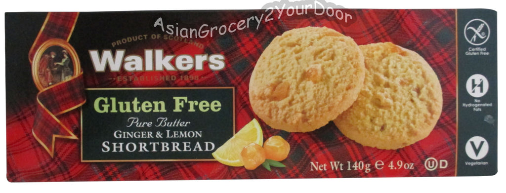 Walkers - Ginger & Lemon Shortbread - 4.9 oz / 140 g - Asiangrocery2yourdoor