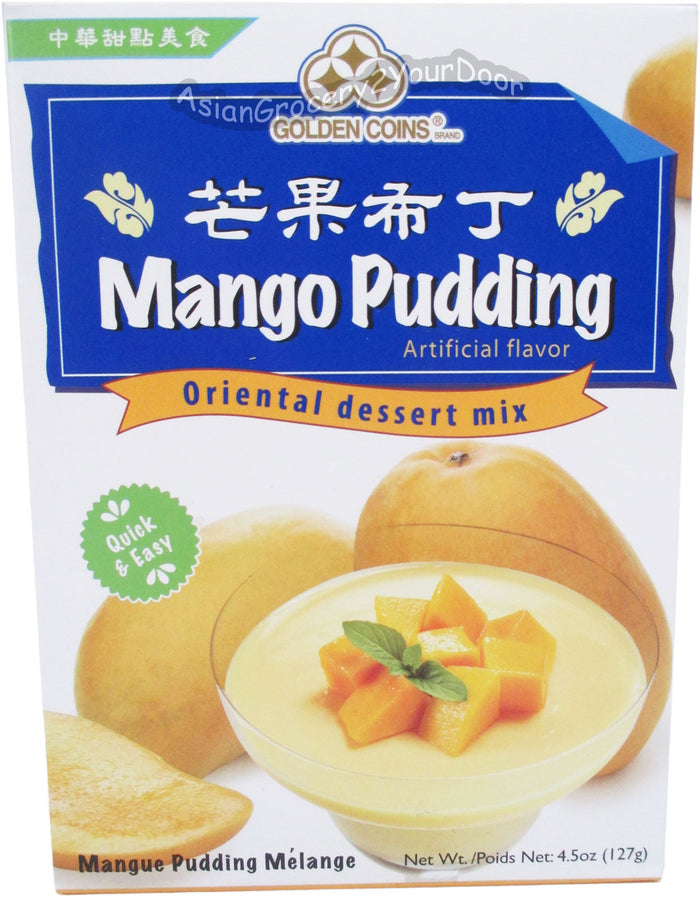 Golden Coins - Mango Pudding Oriental Dessert Mix - 4.5 oz / 127 g - Asiangrocery2yourdoor