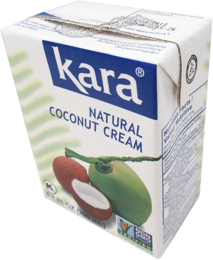 Kara - Natural Coconut Cream - 6.8 fl oz / 200 ml - Asiangrocery2yourdoor