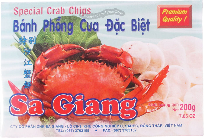 Sa Giang - Special Crab Chips - 7.05 Oz (200 g) - Asiangrocery2yourdoor