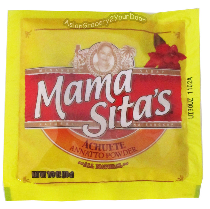 Mama Sita's - Achuete Annatto Powder - 0.35 oz / 10 g - Asiangrocery2yourdoor