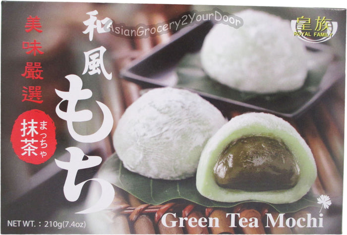 Royal Family - Green Tea Mochi - 7.4 oz / 210 g - Asiangrocery2yourdoor