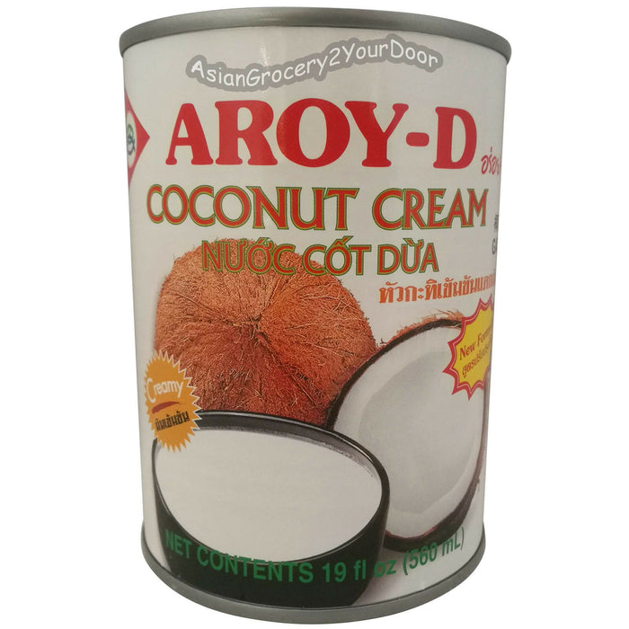 Aroy-D - Coconut Cream - 19 fl oz / 560 ml - Asiangrocery2yourdoor