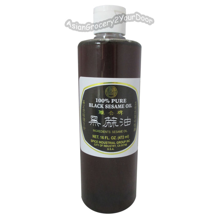 Spice Industrial - Black Sesame Oil - 16 fl oz / 472 g - Asiangrocery2yourdoor