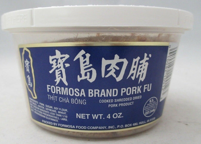 Formosa Brand - Pork Fu Cooked Shredded Dried Pork - 4 oz / 112 g - Asiangrocery2yourdoor