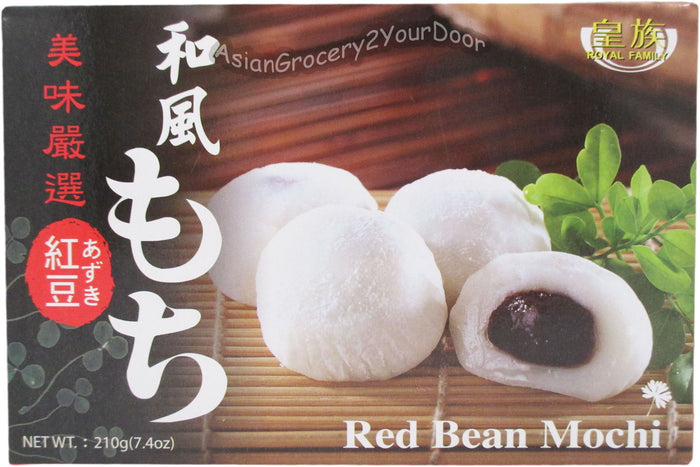 Royal Family - Red Bean Mochi - 7.4 oz / 210 g - Asiangrocery2yourdoor