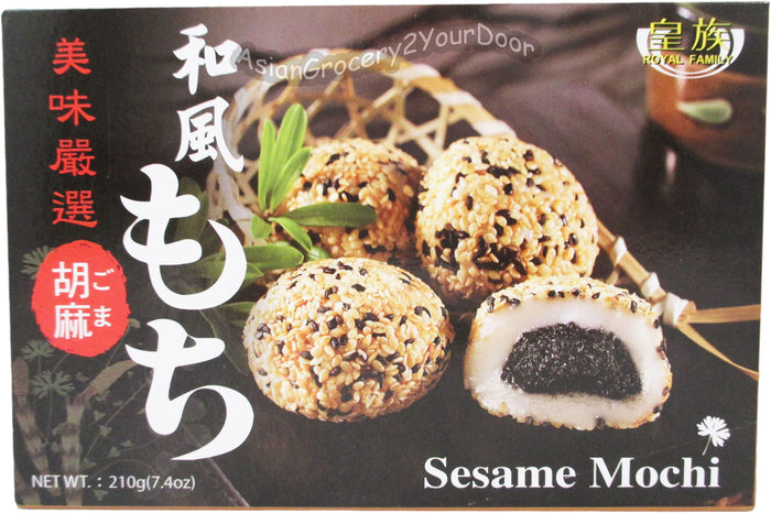 Royal Family - Sesame Mochi - 7.4 Oz (210 g) - Asiangrocery2yourdoor