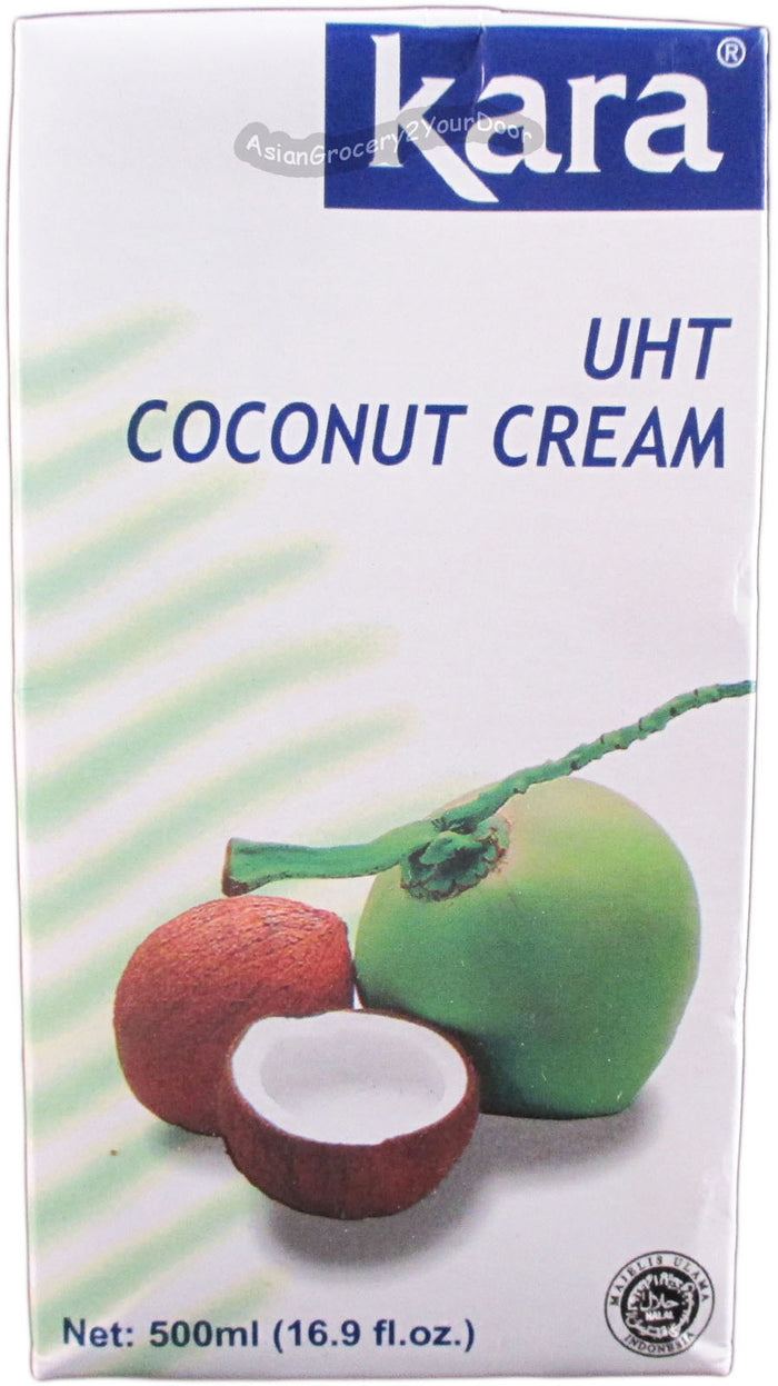 Kara - UHT Coconut Cream - 16.9 fl oz / 500 ml - Asiangrocery2yourdoor