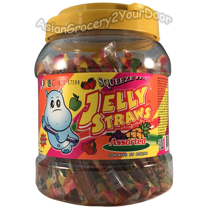 ABC - Assorted Jelly Straws - 31.7 oz / 900 g - Asiangrocery2yourdoor