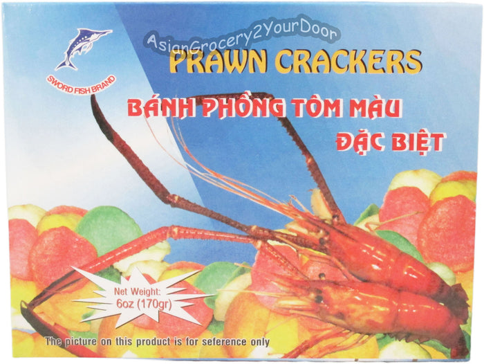 Sword Fish Brand - Prawn Crackers - 6 oz / 170 g - Asiangrocery2yourdoor