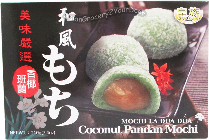 Royal Family - Coconut Pandan Mochi - 7.4 oz / 210 g - Asiangrocery2yourdoor