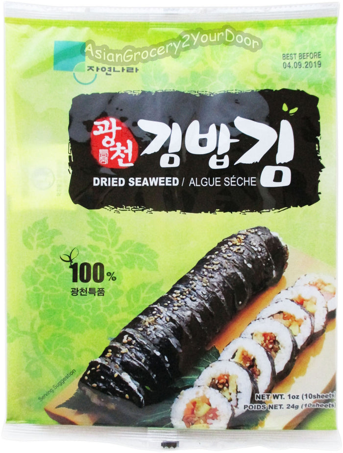 Jayone - Dried Seaweed Sushi Nori - 1 oz / 24 g - Asiangrocery2yourdoor