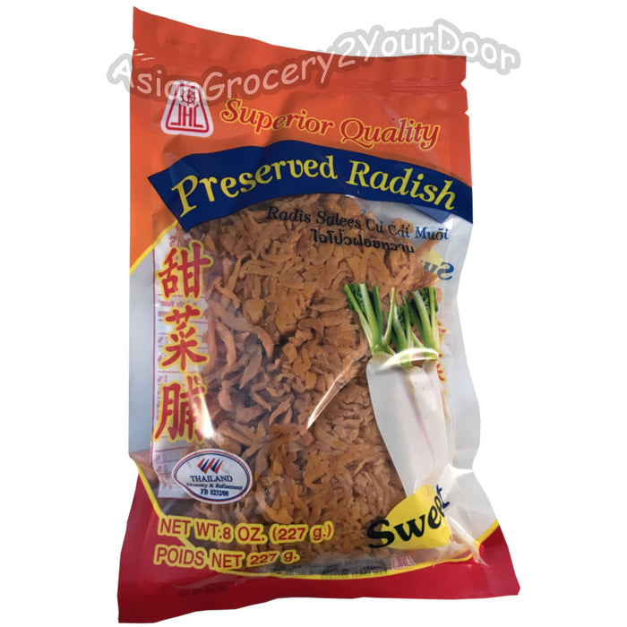 JHC - Preserved Sweet Shredded Radish - 8 oz / 227 g - Asiangrocery2yourdoor