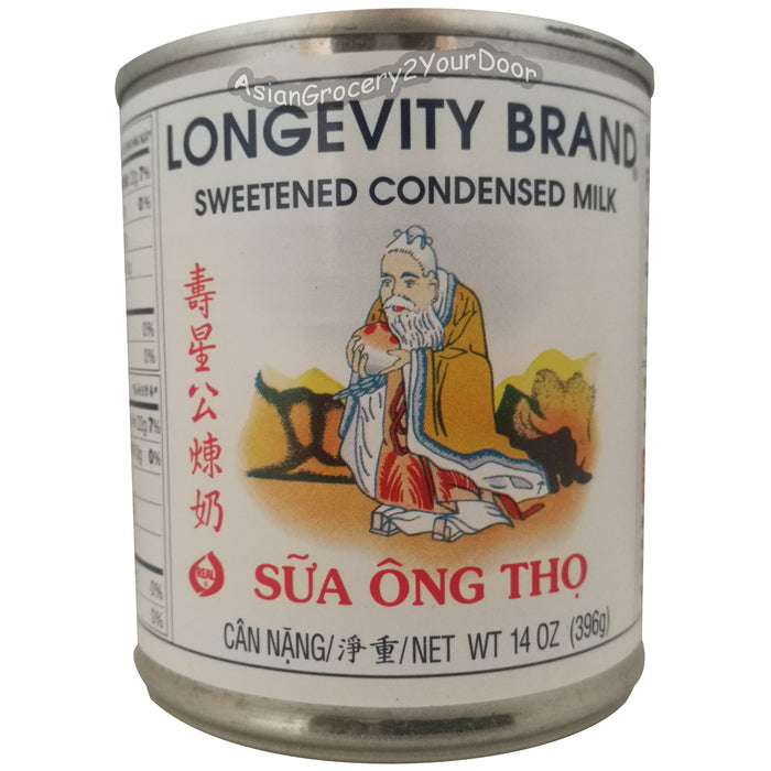 Longevity Brand - Sweetened Condensed Milk - 14 oz / 396 g - Asiangrocery2yourdoor