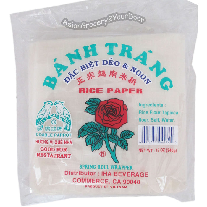 Double Parrot - Rice Paper - 12oz / 340 g - Asiangrocery2yourdoor