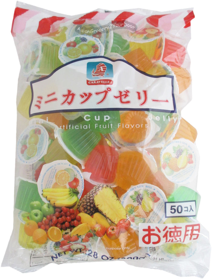 Caravelle - Mini Cup Jelly Fruit Flavors - 28 oz / 800 g - Asiangrocery2yourdoor
