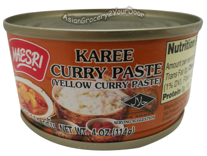 Maesri - Yellow Curry Paste - 4 oz / 114 g - Asiangrocery2yourdoor