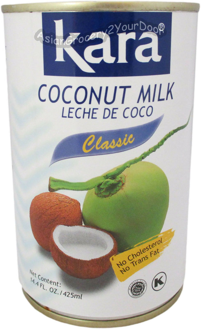 Kara - Classic Coconut Milk Leche de Coco - 14.4 oz / 425 ml - Asiangrocery2yourdoor