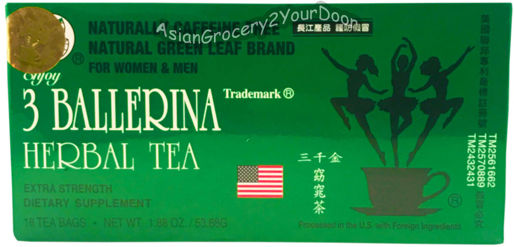 3 Ballerina - Dieter's Extra Strength Herbal Tea - 1.88 oz / 53.88 g - Asiangrocery2yourdoor