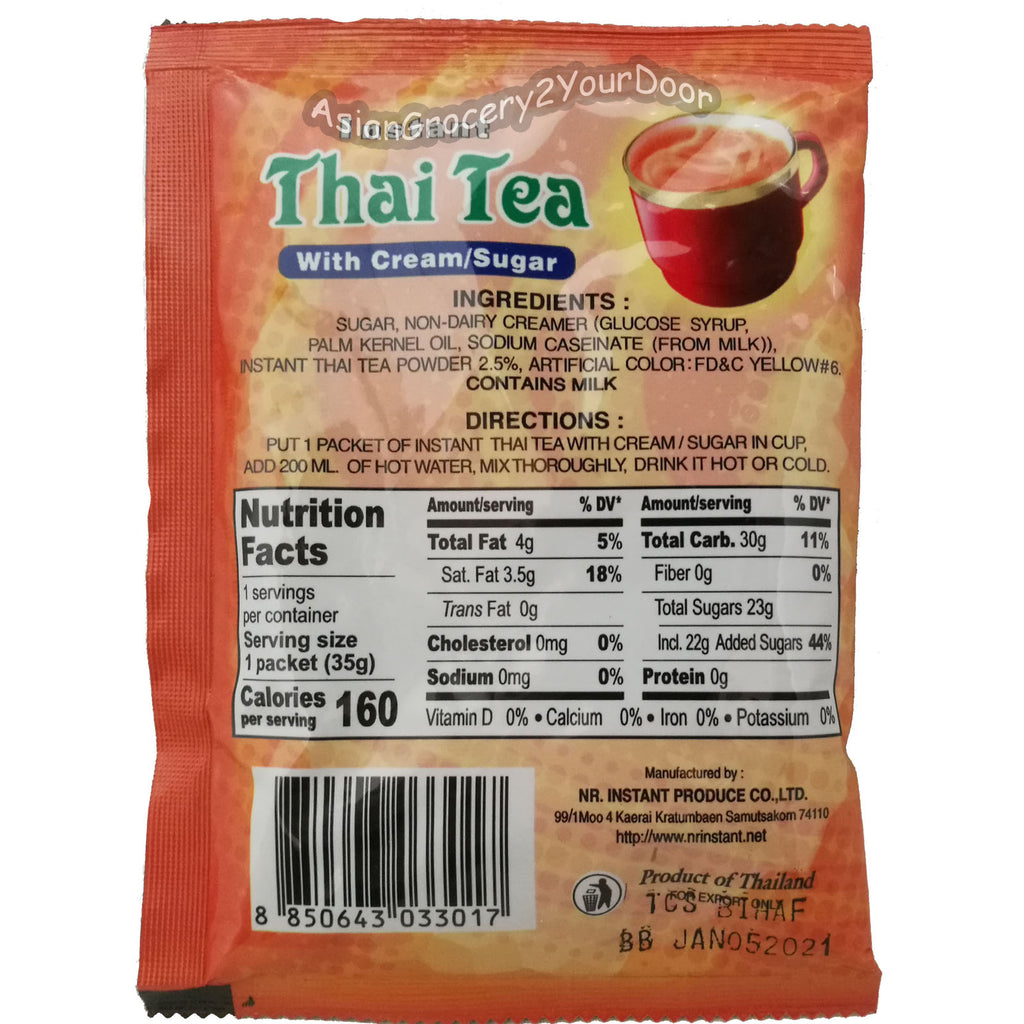 DeDe - Instant Thai Tea with Cream Sugar 12's - 12.35 oz / 350 g - Asiangrocery2yourdoor