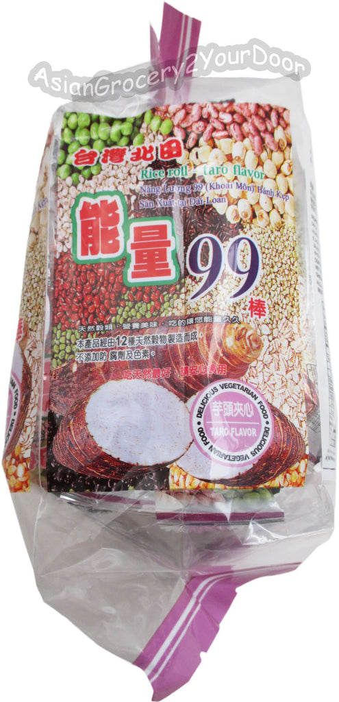 Pei Tien - Energy 99 Sticks Taro Flavor Rice Roll - 6.35 oz / 180 g - Asiangrocery2yourdoor