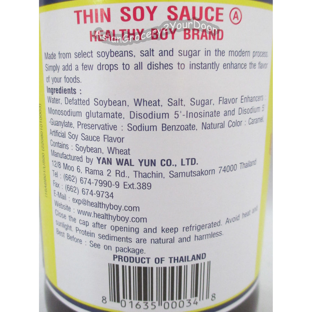 Healthy Boy Brand - Thin Soy Sauce - 2.35 fl oz / 700 ml - Asiangrocery2yourdoor