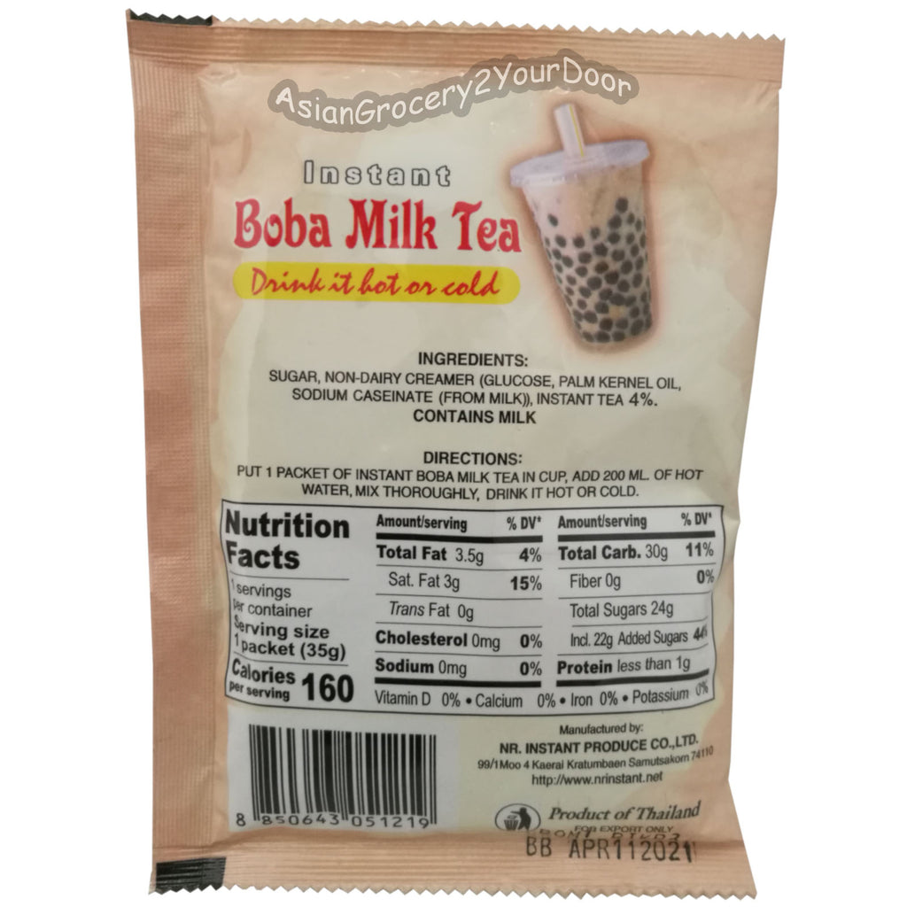 DeDe - Instant Boba Milk Tea - 12.35 oz / 350 g - Asiangrocery2yourdoor