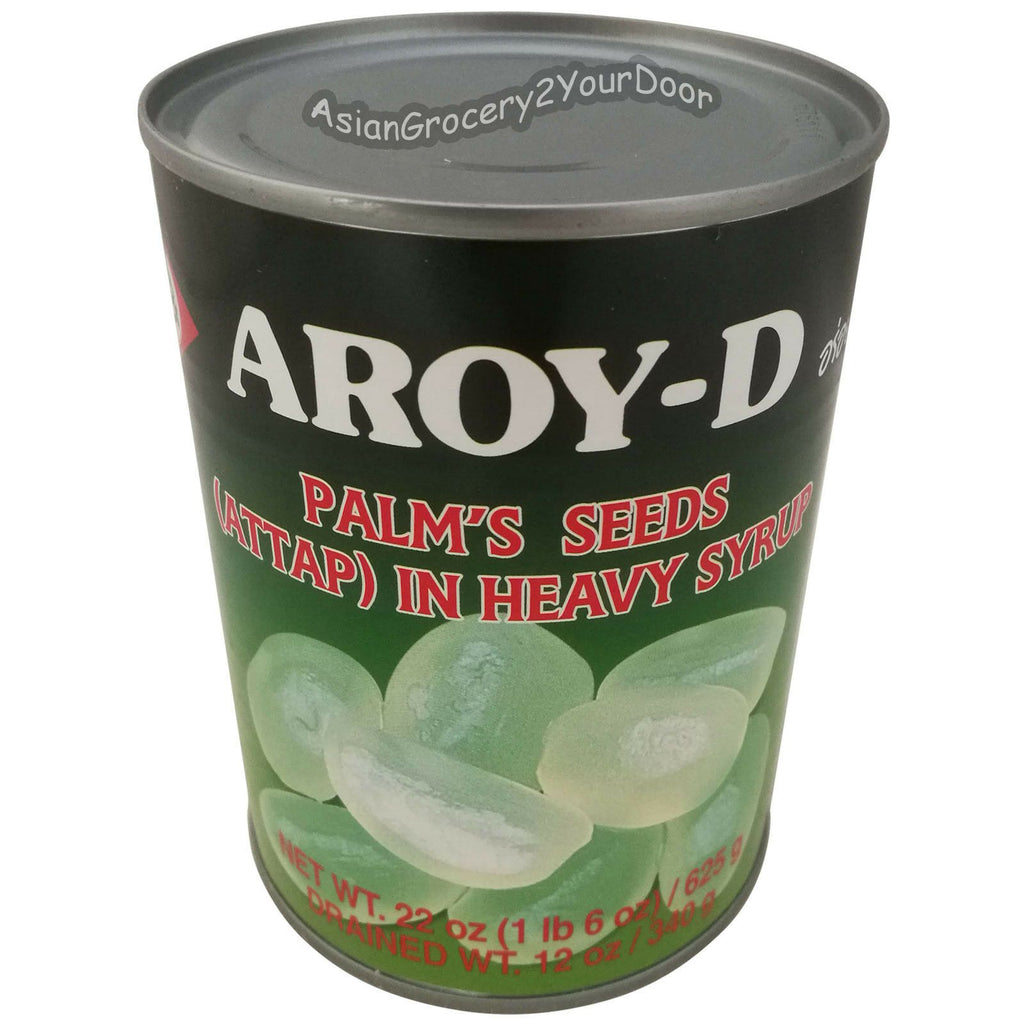 Aroy-D - Palm's Seeds (Attap) in Heavy Syrup - 22 oz / 625 g - Asiangrocery2yourdoor