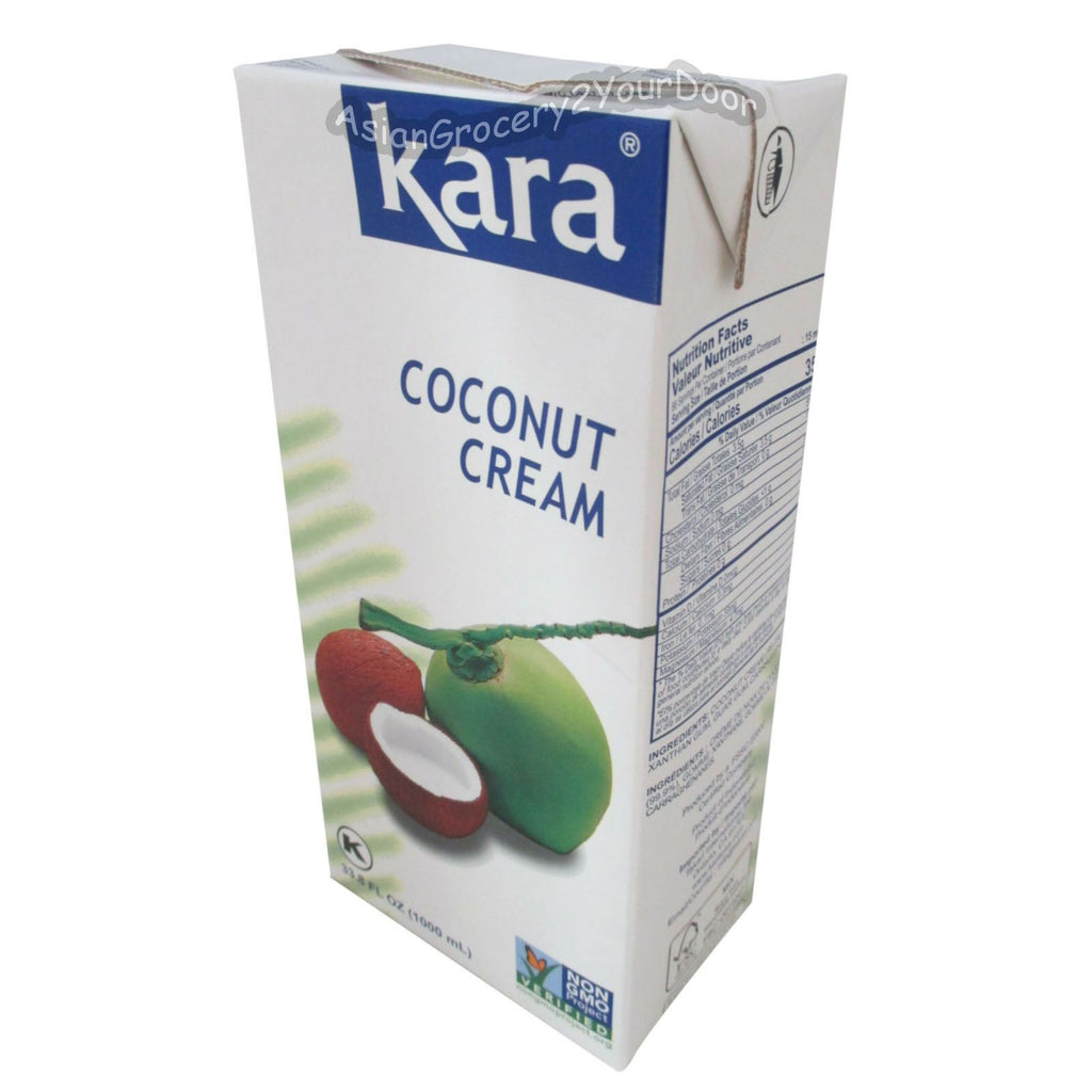Kara - UHT Coconut Cream - 33.8 fl oz / 1000 ml - Asiangrocery2yourdoor