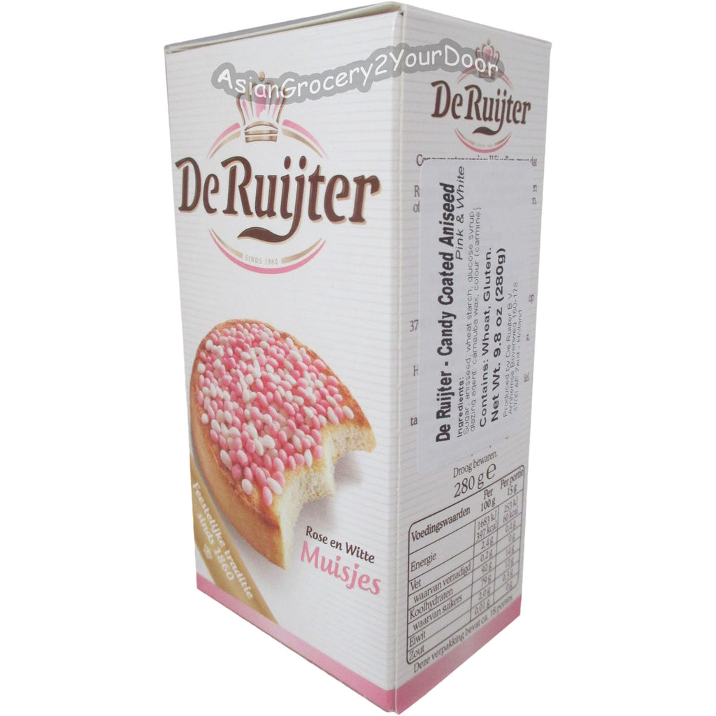 De Ruijter - Candy Coated Aniseed Pink and White - 9.8 oz / 280 g - Asiangrocery2yourdoor