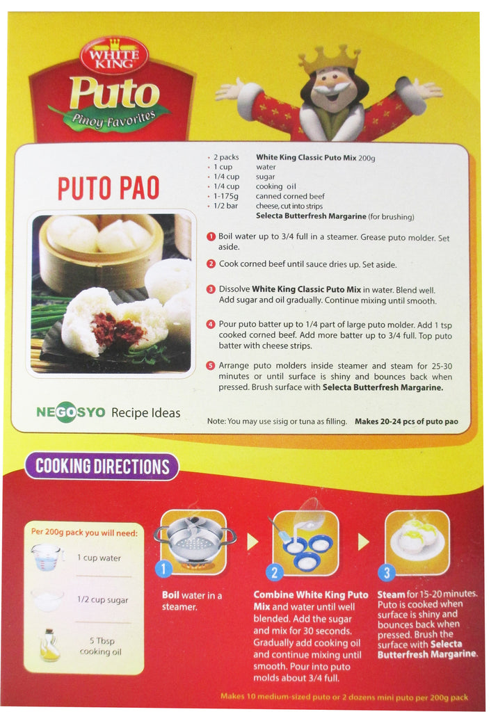 White King - Puto Steamed White Cake Mix - 14.1 oz / 400g - Asiangrocery2yourdoor