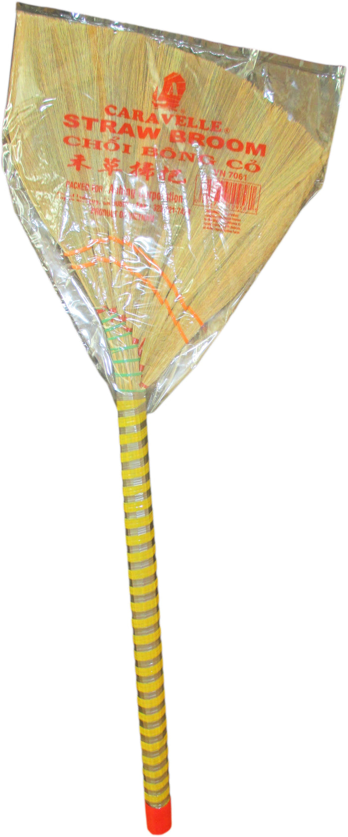 "Caravelle - Straw Whisk Broom - 12"" Head Width / 37"" Overall Length - Asiangrocery2yourdoor"