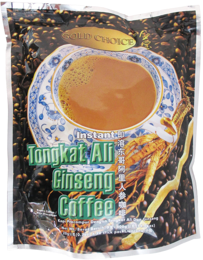 Gold Choice - Instant Tongkat Ali Ginseng Coffee - 14.08 oz / 400 g - Asiangrocery2yourdoor