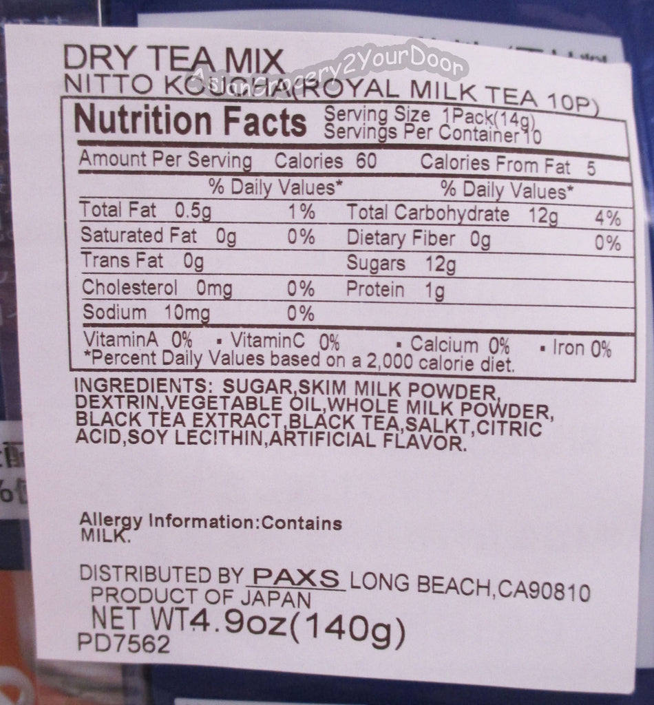 Royal - Milk Tea Dry Mix - 4.9 oz / 140 g - Asiangrocery2yourdoor