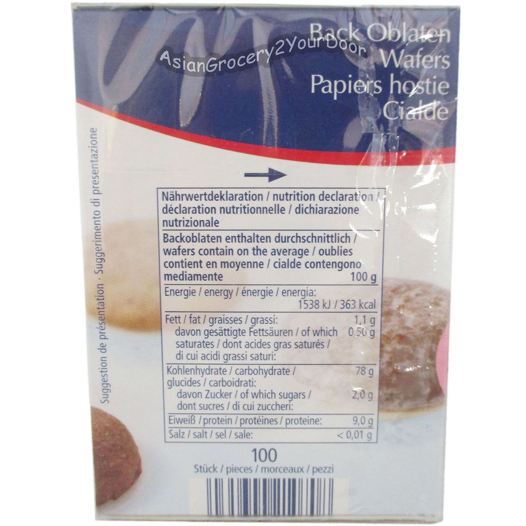 Kuchle - Wafer Papers for Baking - 2.33 oz / 66 g - Asiangrocery2yourdoor