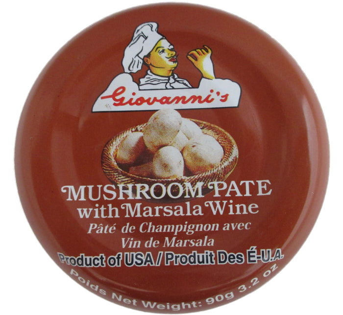 Giovanni's - Mushroom Pate with Marsala Wine - 3.2 oz / 90 g - Asiangrocery2yourdoor