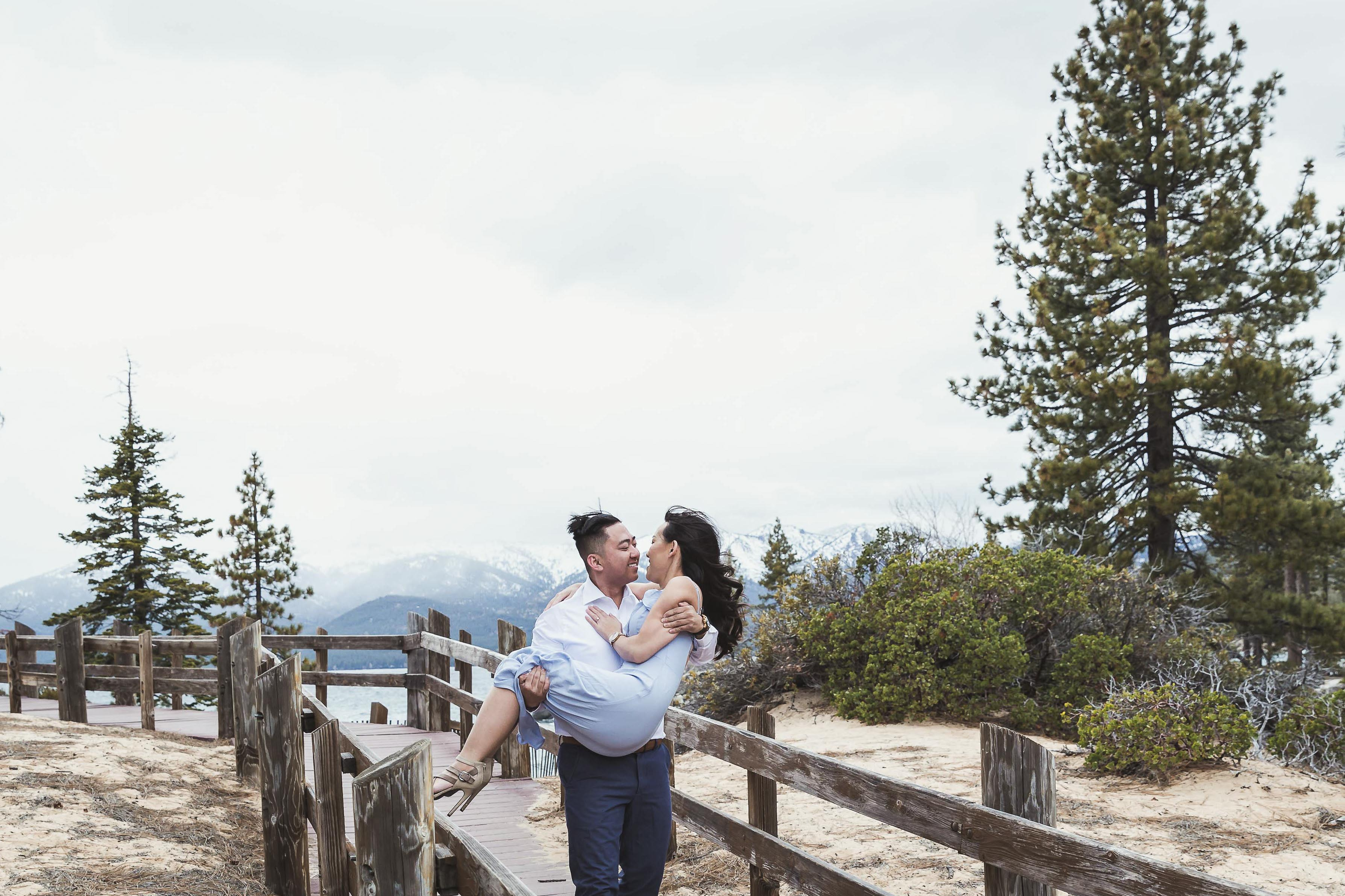LAKE TAHOE, CA | He used to Drive Hours just to be with Her at UC Berkeley