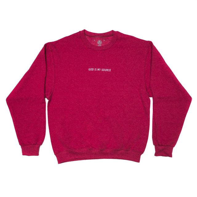 God Is My Source Sweatshirt Red / White