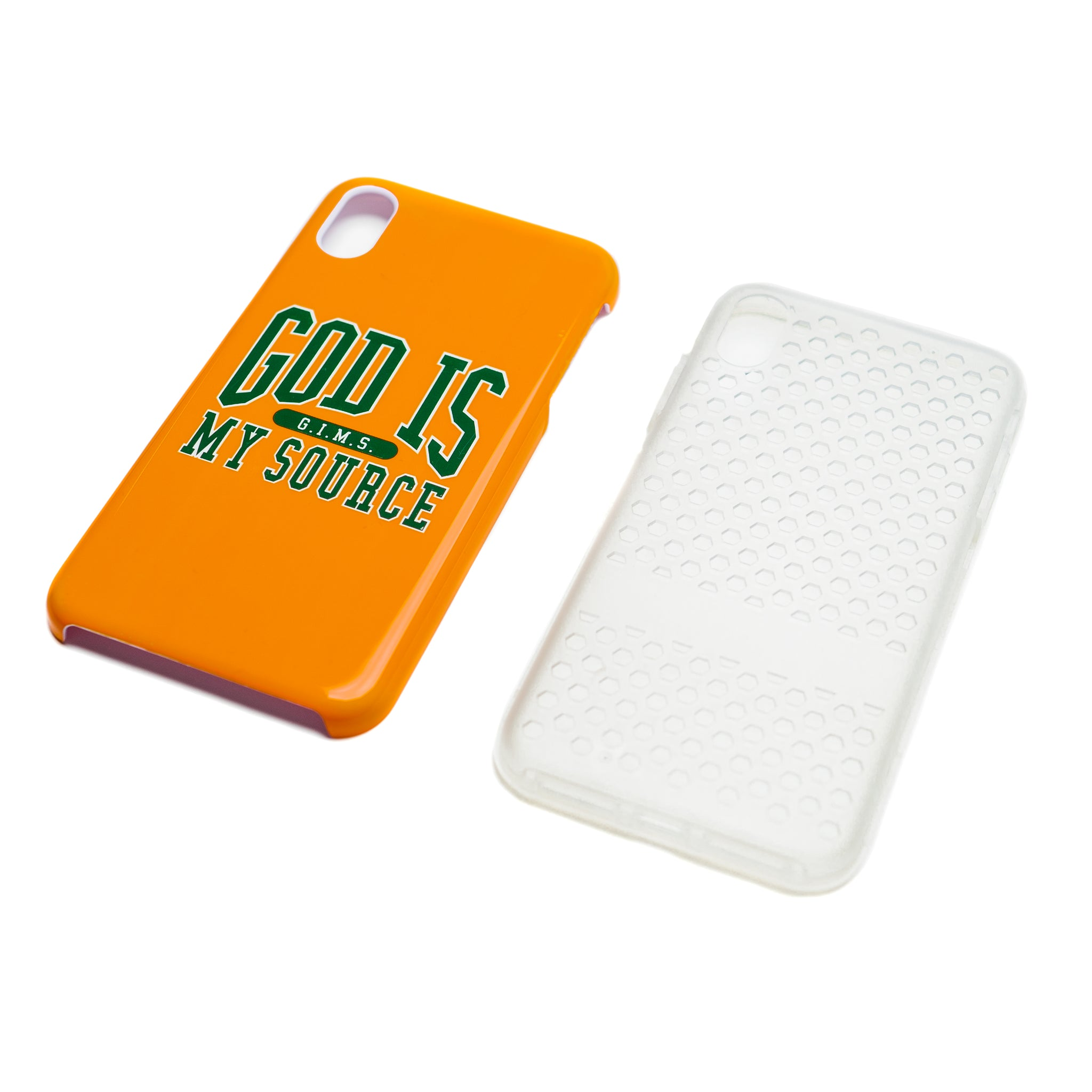 God Is My Source 'Campus' iPhone Case Orange / Green - Accessories God Is My Source