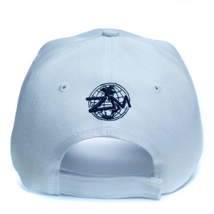 "God Is My Source ""Line Logo"" Hat White/Navy - hat God Is My Source"