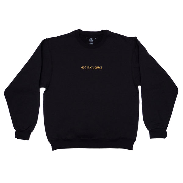 God Is My Source Sweatshirt Black/Gold - Sweatshirt ManiaManiaMania