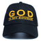"God Is My Source ""Line Logo"" Hat Black/Gold - hat ManiaManiaMania"