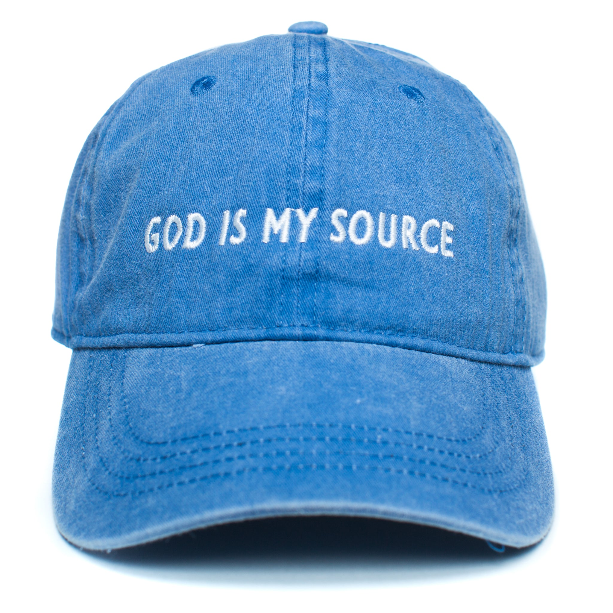 God Is My Source Dad Hat Royal/White - hat God Is My Source