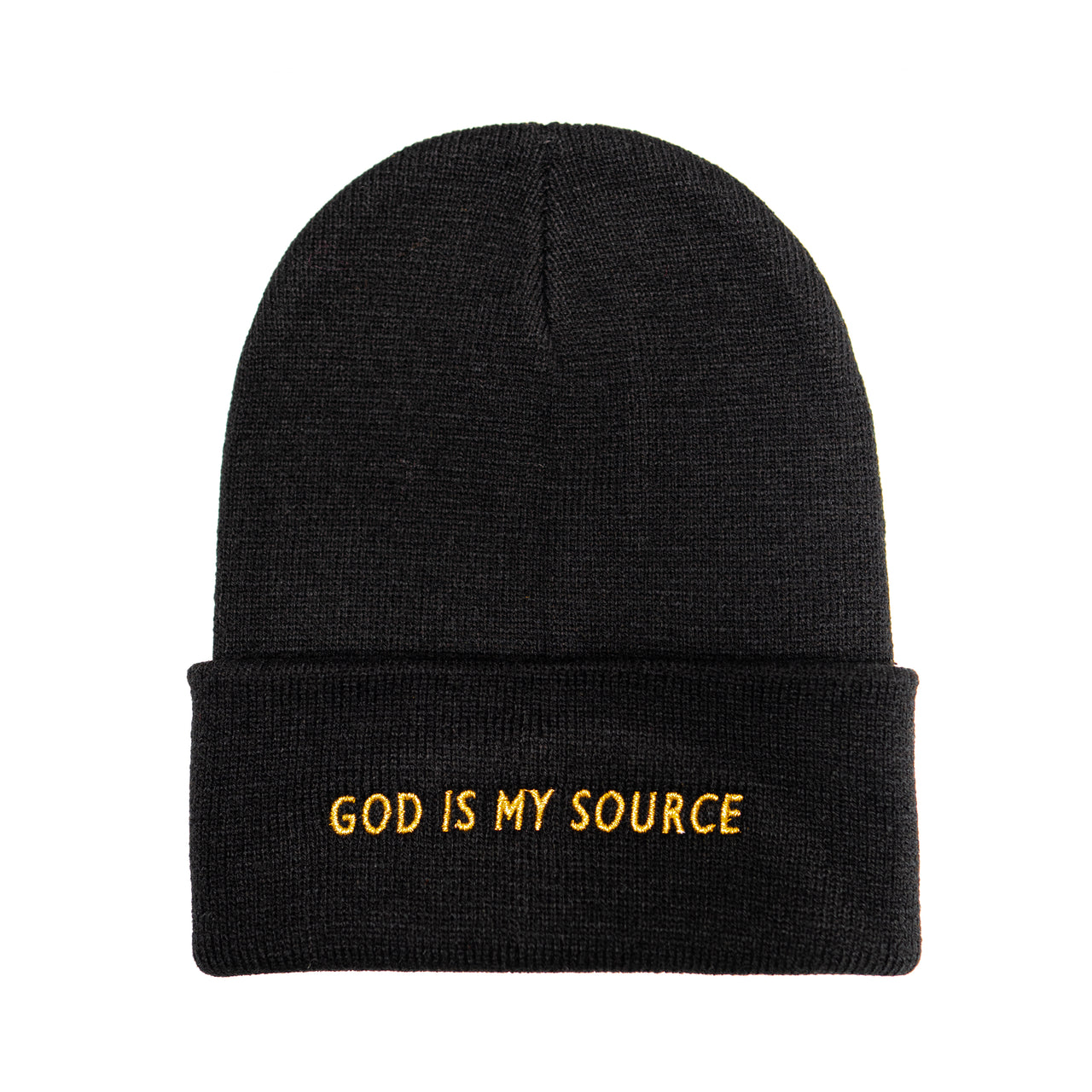 God Is My Source Beanie Black/Gold - hat God Is My Source