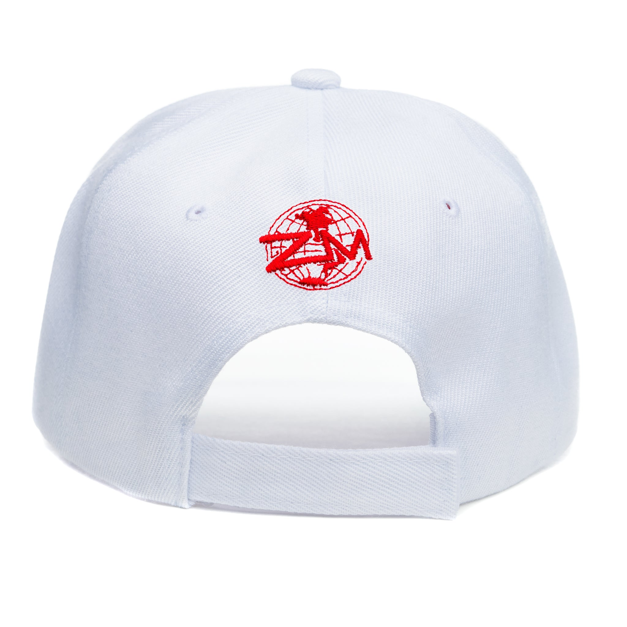 "God Is My Source ""Line Logo"" Hat White / Red - hat God Is My Source"