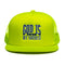 "God Is My Source ""Campus"" Trucker Hat Neon Yellow / Blue - hat God Is My Source"